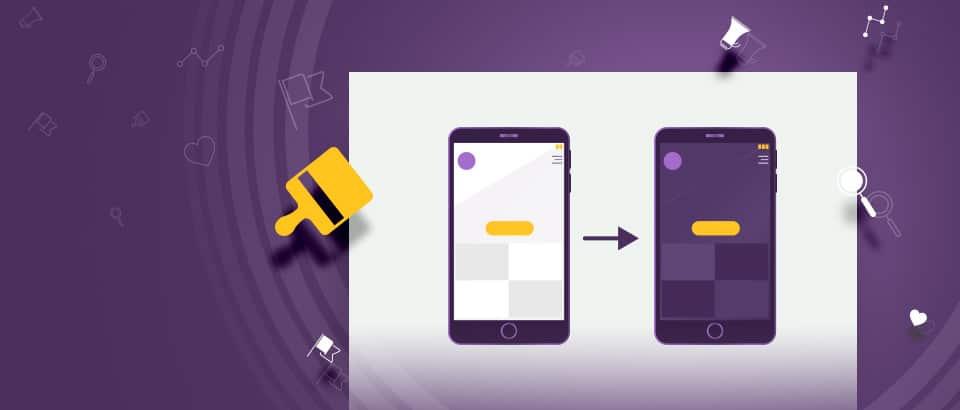Dark mode и приложенията му в дизайна